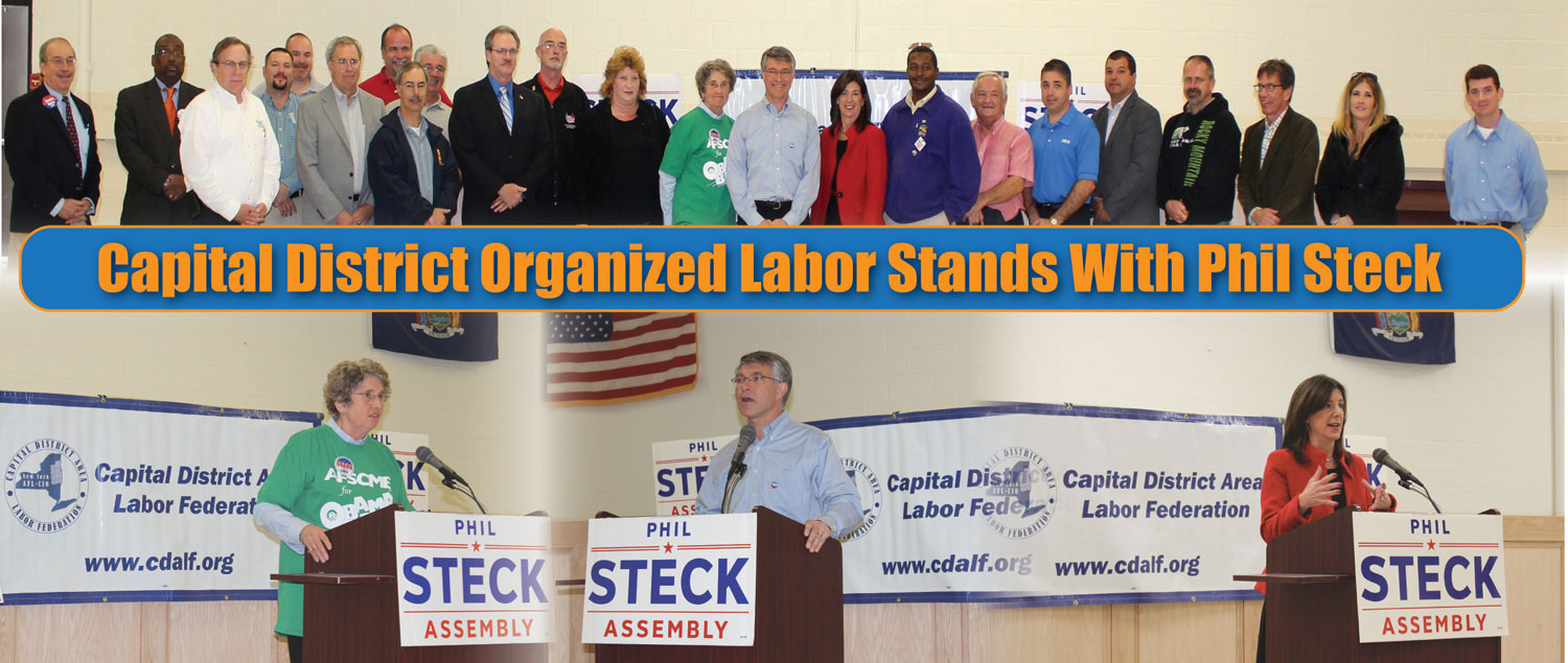 Steck Organized Labor Endorsement Press Conference web